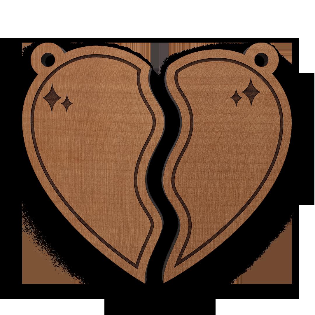 Schlüsselanhänger Herz 2teilig