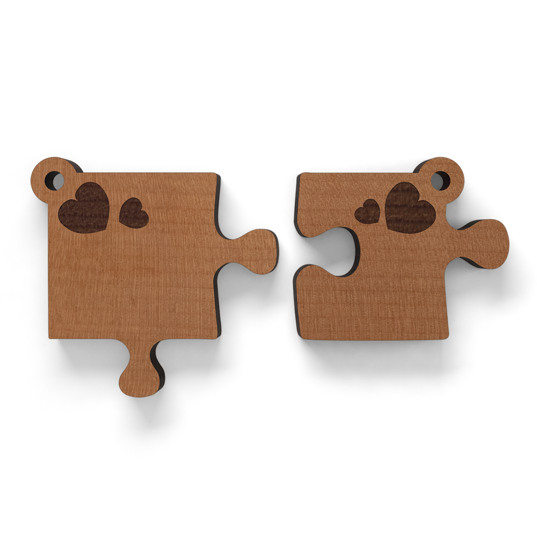 Schlüsselanhänger Puzzle 2teilig