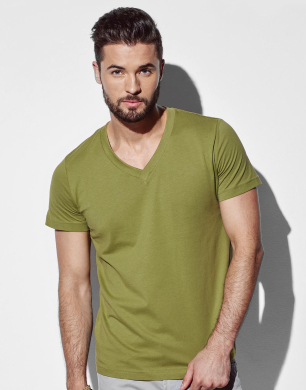 Stedman James V-Neck T-shirt bedrukken